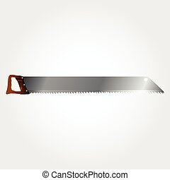 Vector Illustration of wood saws