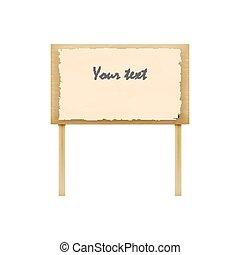 Vector illustration of wooden billboard