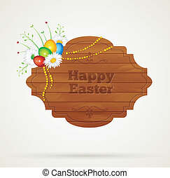 Wooden frame easter