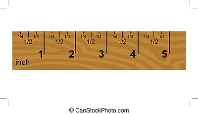 wooden inch ruler