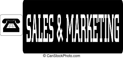 Vector illustration of word Sales and marketing