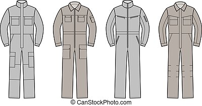 overalls - Vector illustration of work overalls