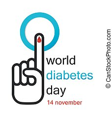 World Diabetes Day Concept - Vector illustration of World...