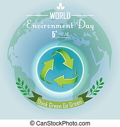 World environment day with concept