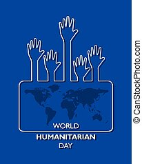 Vector Illustration of World Humanitarian Day observed on ...