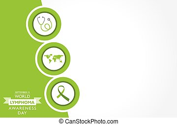 Vector illustration of World Lymphoma Awareness Day observed...