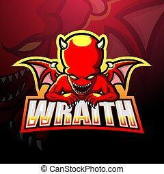 Wraith mascot esport logo design - Vector illustration of ...