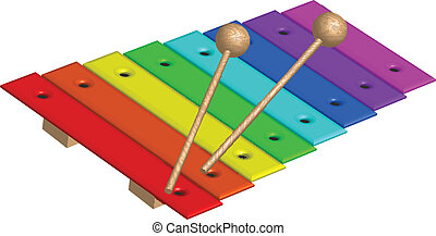 Vector illustration of xylophone