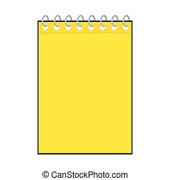 yellow notepad icon - vector illustration of yellow notepad...