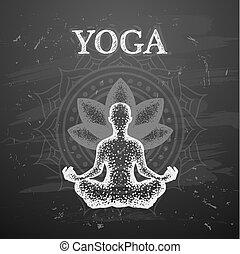 Vector illustration of yoga poses