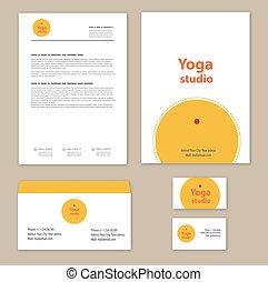 Yoga studio branding set