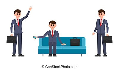 Vector illustration of young businessmen