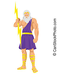 Zeus - Vector illustration of Zeus, the Father of Gods and...