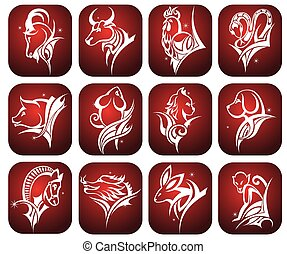 Vector illustration of zodiac