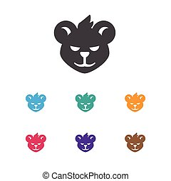 Vector Illustration Of Zoo Symbol On Wildcat Icon. Premium Quality Isolated Tiger Element In Trendy Flat Style.