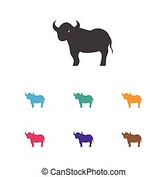 Vector Illustration Of Zoology Symbol On Bull Icon. Premium Quality Isolated Ox Element In Trendy Flat Style.