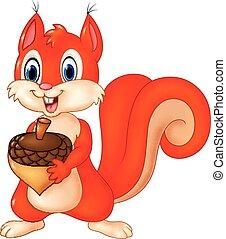 Cartoon funny squirrel