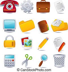 office icon - Vector illustration - office icon set