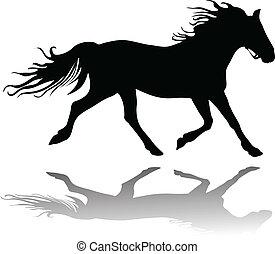Running horse - Vector Illustration of Running horse