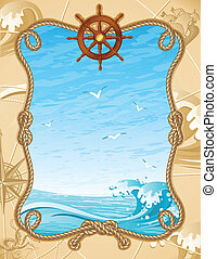 sailing background - Vector illustration - old-fashioned...