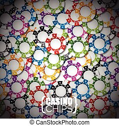 Vector illustration on a casino theme with color playing chips.