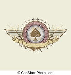 gambling - Vector illustration on a gambling subject. spades...