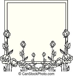Vector illustration on a white background with various flower frame