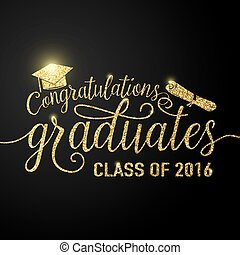 Vector illustration on black graduations background...