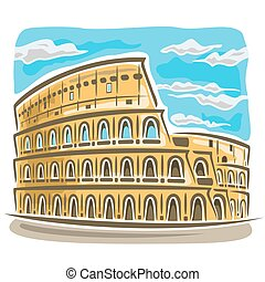 Coliseum - Vector illustration on the theme of Coliseum