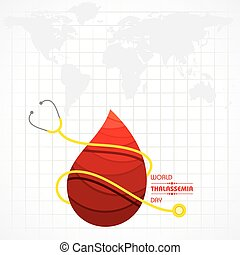 Vector illustration on the theme of world Thalassemia day ...