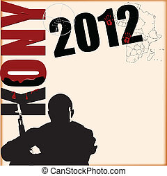 Vector illustration on the topic of Kony 2012 associated with Invisible Children.