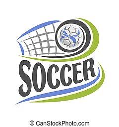 Vector illustration on theme Soccer game