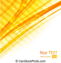 Orange straight lines abstract background - Vector...