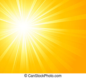 Orange summer sun light burst - Vector illustration Orange...