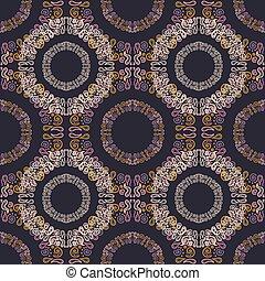 vector illustration: oriental seamless pattern - circles