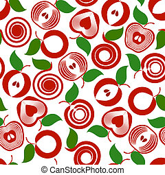 vector illustration os an apple seamless background