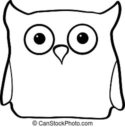 Vector illustration owl
