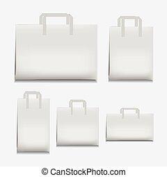 Paper Shopping Bag White