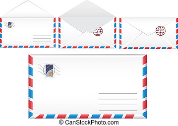 Vector illustration post envelope