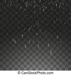 Vector illustration rain isolated on a transparent background