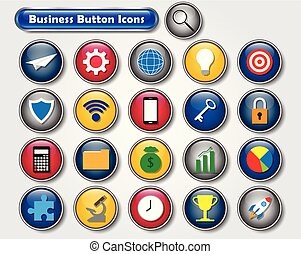 Colorful Business Button Icons
