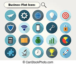 Colorful Business Flat Icons