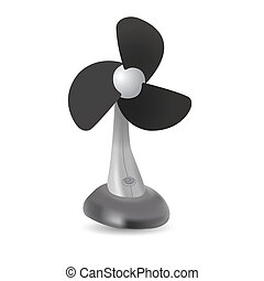 realistic electric fan isolated on white background