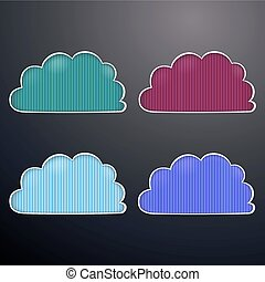 Vector illustration retro clouds