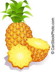 pineapples - Vector illustration - ripe pineapples