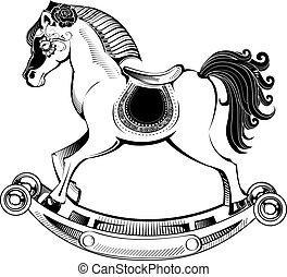 vector illustration rocking horse