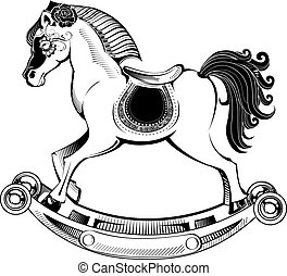 vector illustration rocking horse