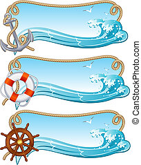 sailing banner - Vector illustration - sailing banners
