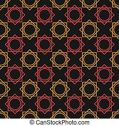 vector illustration seamless pattern geometric design with black background