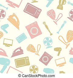 Seamless pattern of Household appliance
